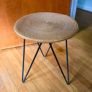 Mid Century Woven Accent Table Preview