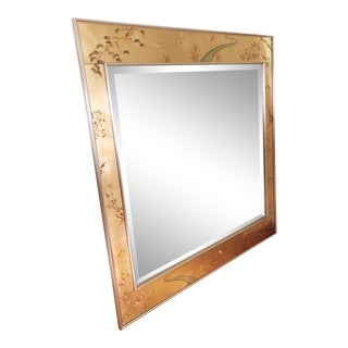 Rare Gold Labarge Chinoiserie Wall Mirror Signed D. Moomey 77' For Sale