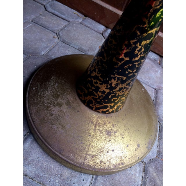50's Funky Ceramic and Brass Ashtray Stand - Image 6 of 7