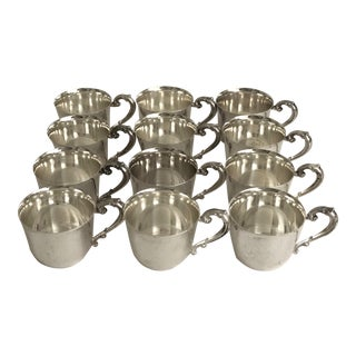 Vintage Sheridan Silver Punch Cups - Set of 12