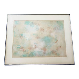 1970s Mid-Century Modern Framed Abstract Litho Print by Robert Natkin For Sale