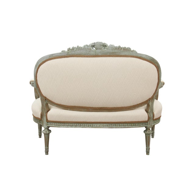 Antique Louis XVI Style Parlor Settee - Image 6 of 10