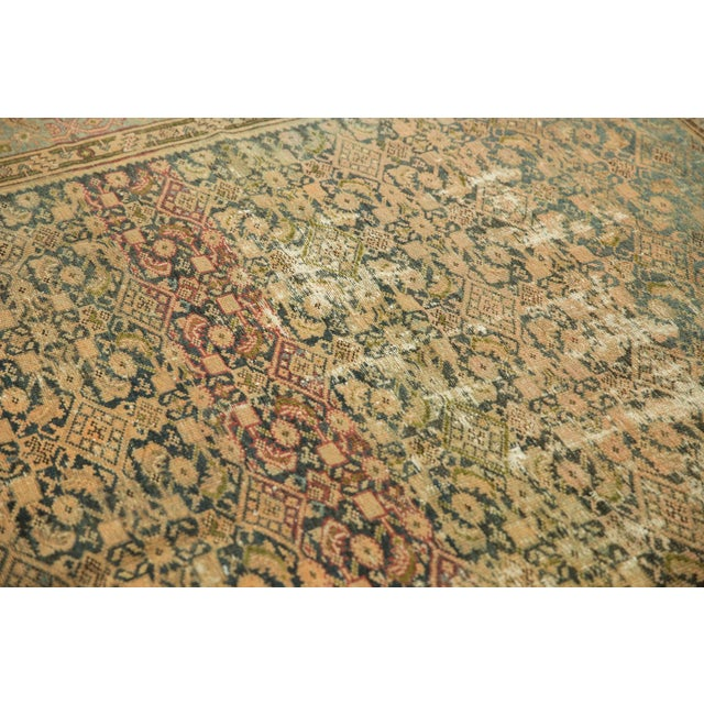 "Blue Vintage Distressed Malayer Carpet - 7' X 10'2"" For Sale - Image 8 of 13"