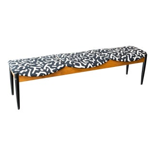 John Stuart Style Mid Century Three-Seat Bench For Sale
