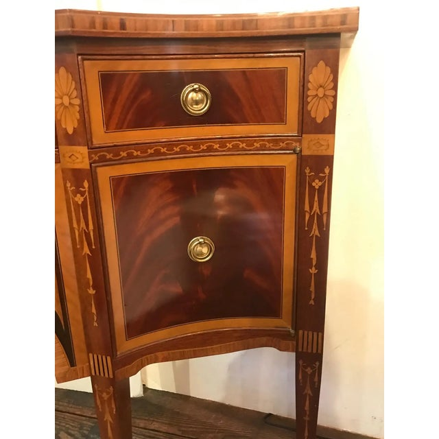 Wood Mixed Wood Small Inlaid Regency Style Console Sideboard For Sale - Image 7 of 10