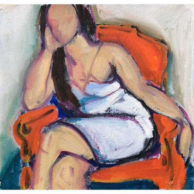 Woman in Orange Chair Sketch I by Heidi Lanino - Image 1 of 2