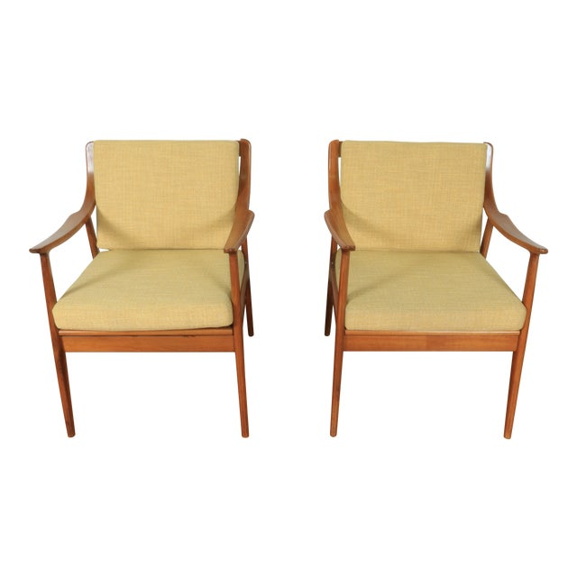 1960s Yugoslavia Yellow Side Chairs For Sale