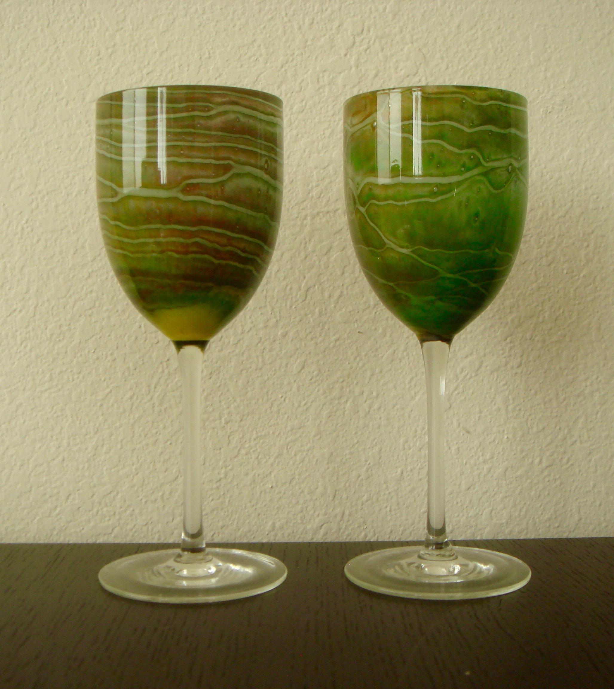 Lovely Steven Maslach Handblown Wine Glasses   Set Of 8   Image 6 Of 10