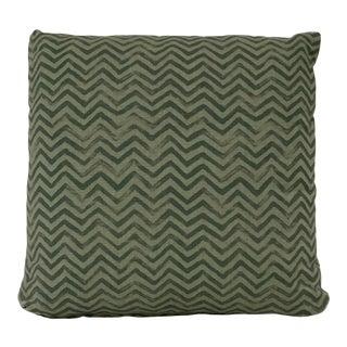 Green Chevron Pattern Pillow For Sale