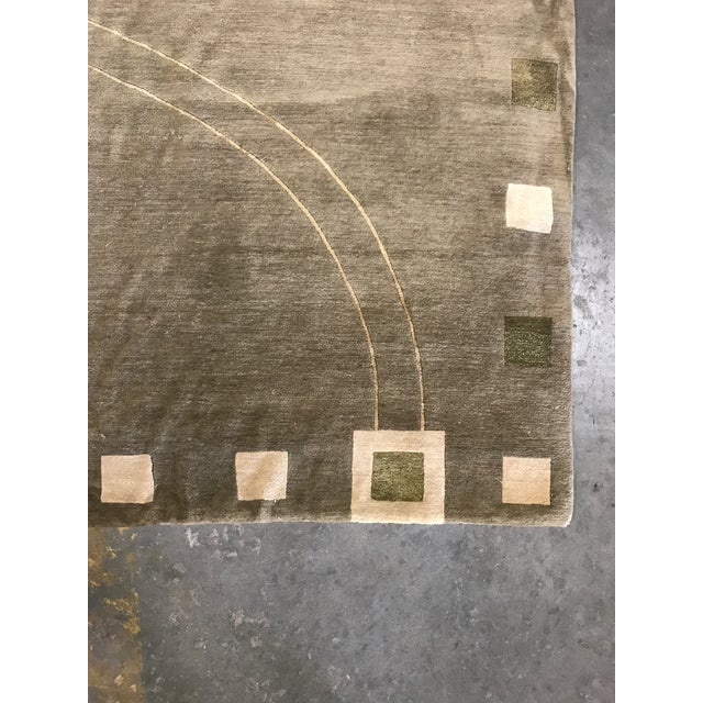 Lucien Rollin Collection Art Deco Wool and Silk Rug - 6' x 9' - Image 3 of 4