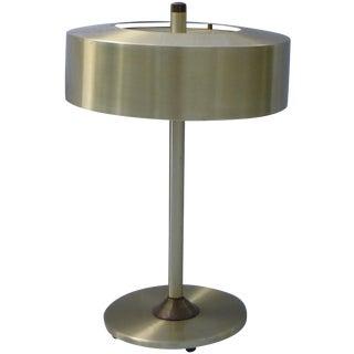 Mid-Century Danish Modern Spun Aluminum Lamp