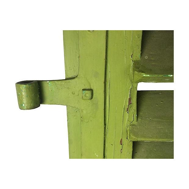 Arched French Green Shutters - A Pair - Image 3 of 3