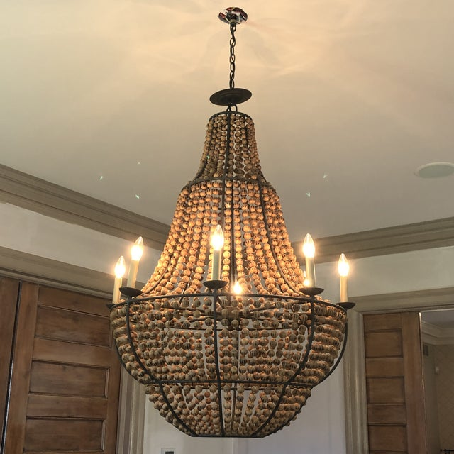 Shabby Chic Currey and Company Falconwood Chandelier For Sale - Image 3 of 10