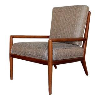 1950s Mid-Century Modern Robsjohn-Gibbings Walnut Lounge Chair For Sale