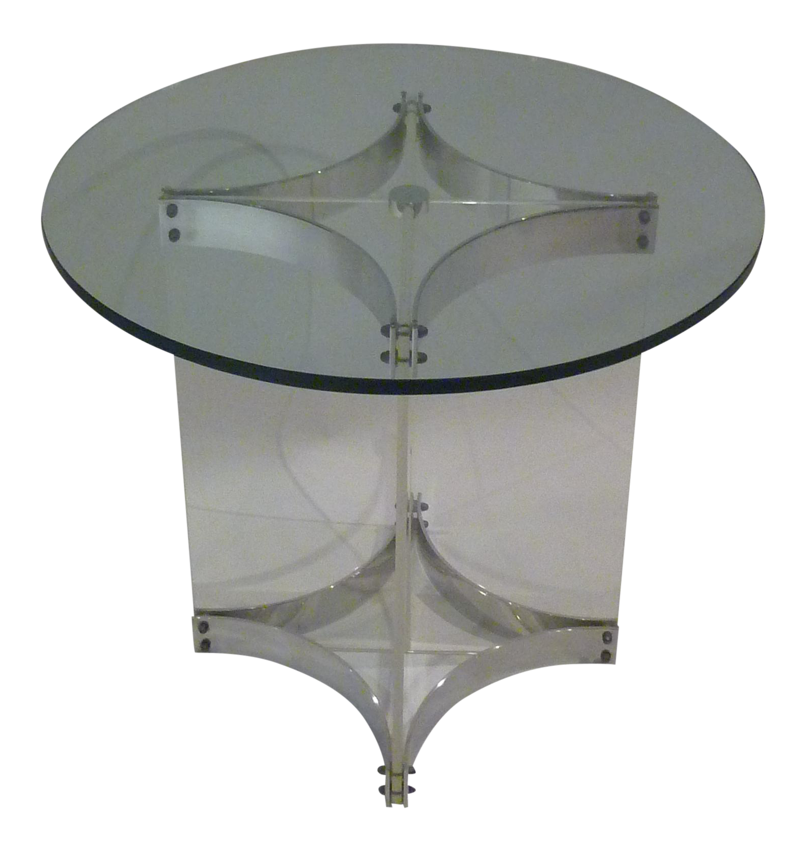 Alessandro Albrizzi Lucite Glass And Chrome Side Table   Image 1 Of 8