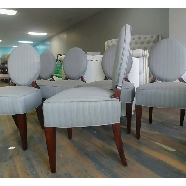 Henredon Henredon Furniture Barbara Barry Walnut Oval Back Side Chairs - Set of 6 For Sale - Image 4 of 11