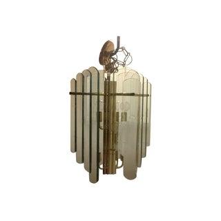 Fontana Arte Styled Large Modern Chandelier For Sale