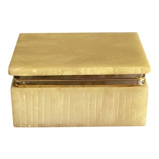 Art Deco Italian Alabaster Box For Sale