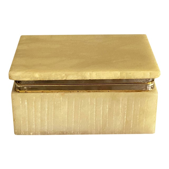 Art Deco Italian Alabaster Box For Sale