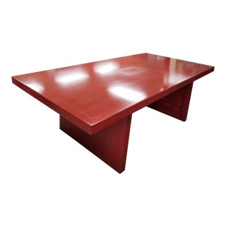 1990s McGuire Dining Table For Sale