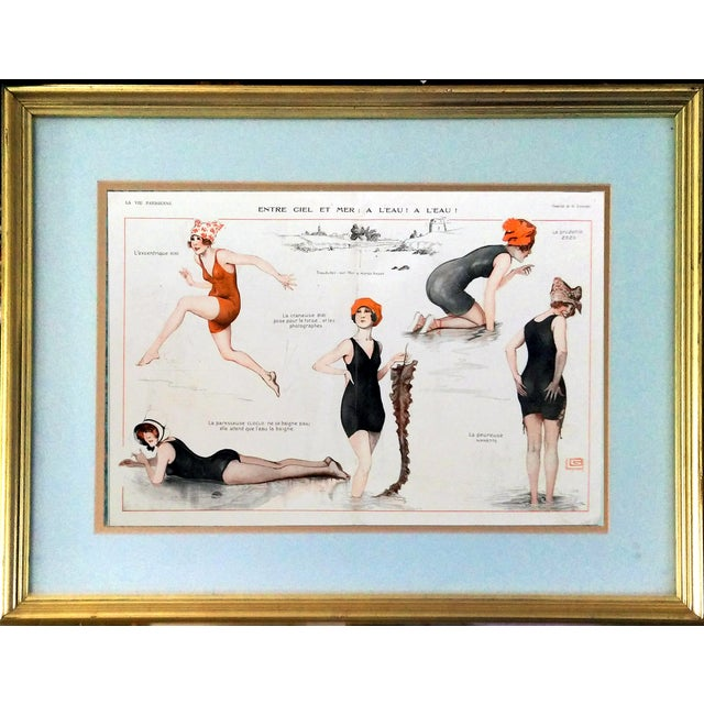 1918 La Vie Parisienne Bathing Beauty Print - Image 1 of 7
