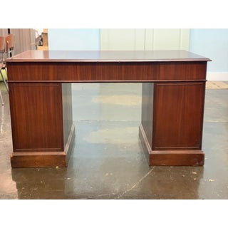 Antique Campaign Cherry Wood Executive Desk From j.l. Hudson's & Detroit Woodworking Preview