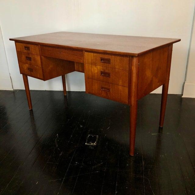 1970s Danish Teak Writing Desk For Sale - Image 13 of 13