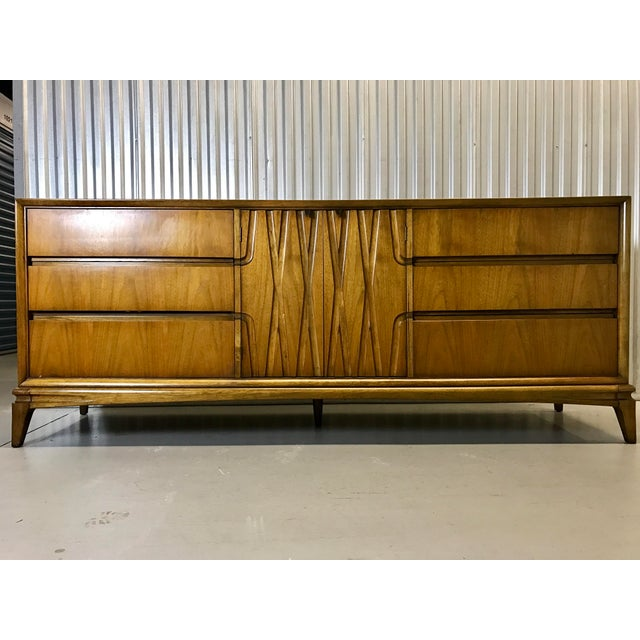 Mid-Century Nine Drawer Dresser - Image 4 of 11