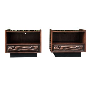 Spectacular Witco Oceanic Sculptural Nightstands by Pulaski