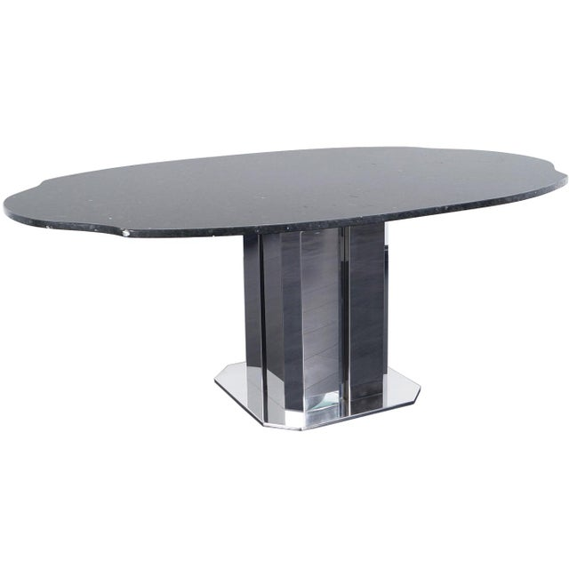Silver Exceptional Italian Dining Table For Sale - Image 8 of 8