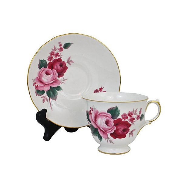 Queen Anne Teacup & Saucer - A Pair - Image 3 of 7