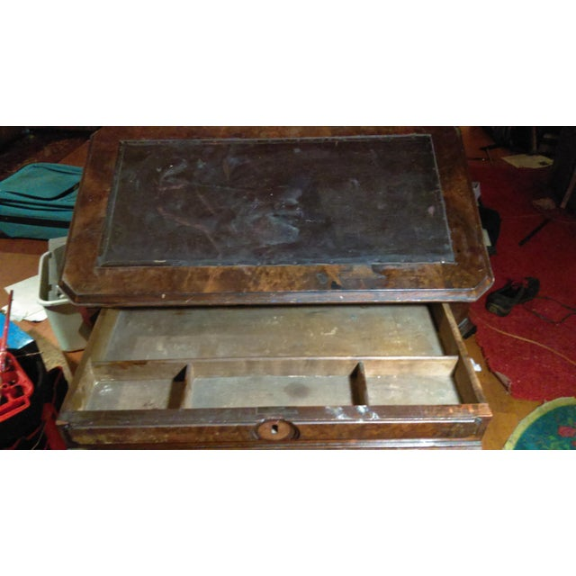 Antique Writing Desk With Stretched Leather Top - Image 10 of 11