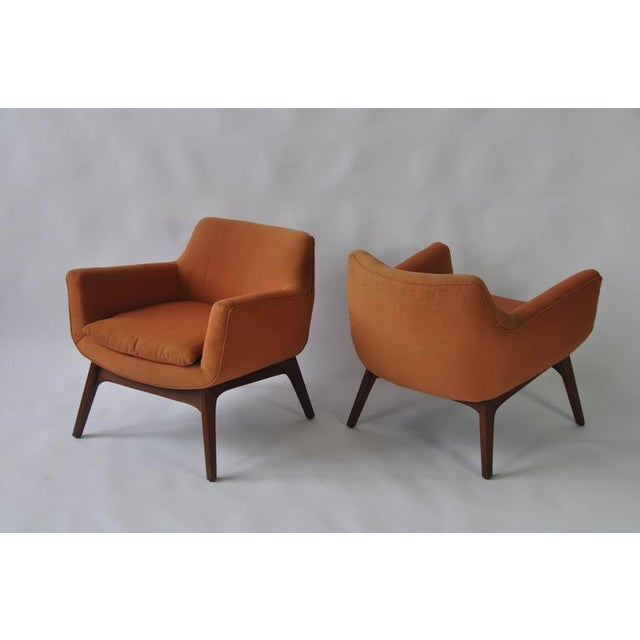 Adrian Pearsall Pair of Adrian Pearsall Lounge Chairs For Sale - Image 4 of 6