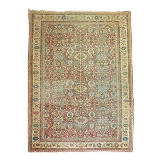 Antique Persian Distressed Sultanabad Rug 10'11'' x 16'