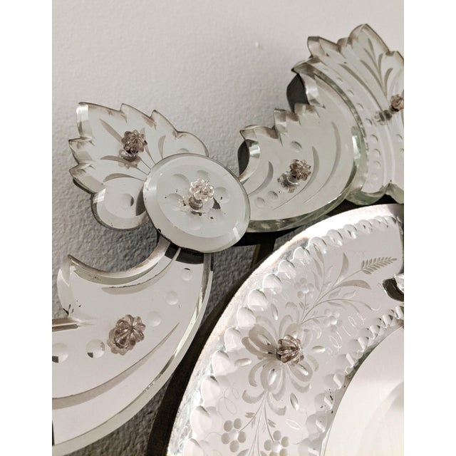 Early 20th Century Vintage Etched Venetian Mirror For Sale - Image 10 of 13