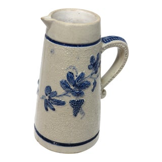 19th Century Americana Stoneware Cream Pitcher For Sale
