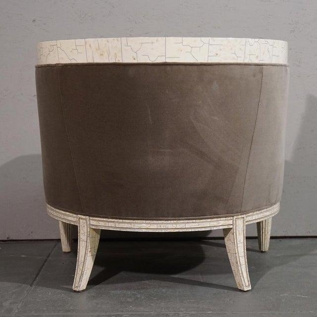 Velvet Barrel Chair - Image 4 of 8