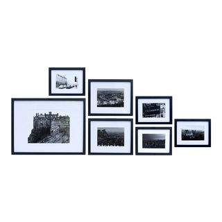 Edinburgh Black & White Framed Photography Prints, Set of 7