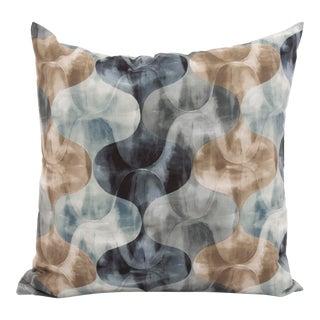 """Grey & Silver Quatrefoil 20"""" Pillow For Sale"""