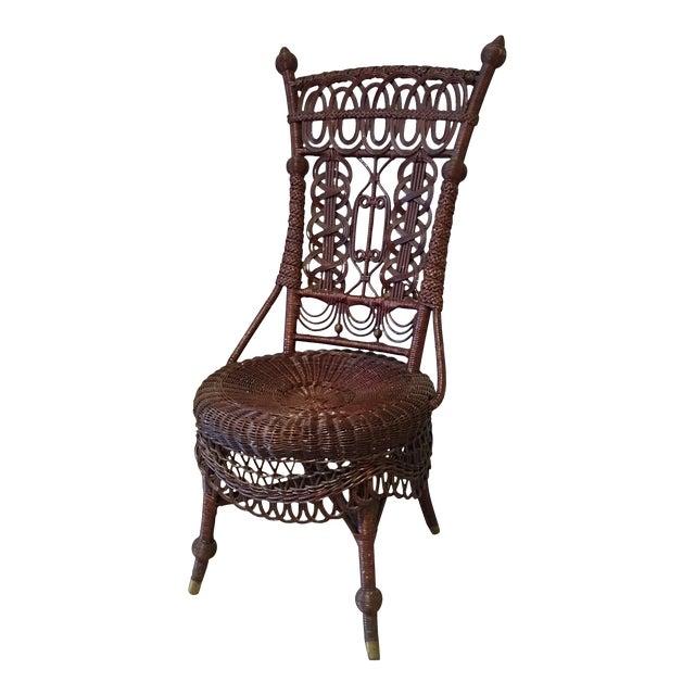 Heywood-Wakefield Victorian Wicker Chair - Image 1 of 11