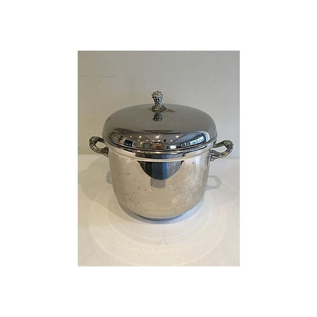 Hollywood Regency 1960s Silver-Plate Ice Bucket For Sale - Image 3 of 5