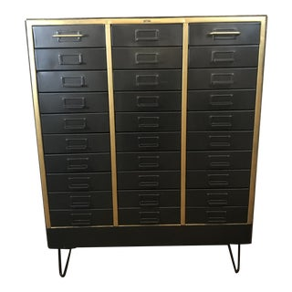 1960s Refurbished Metal Cabinet For Sale