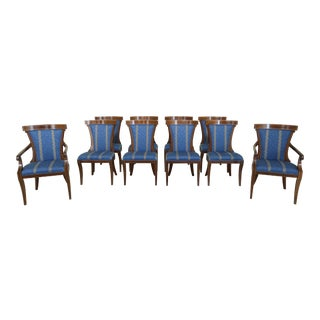 Set of 10 John Widdicomb Neoclassical Dining Room Chairs For Sale