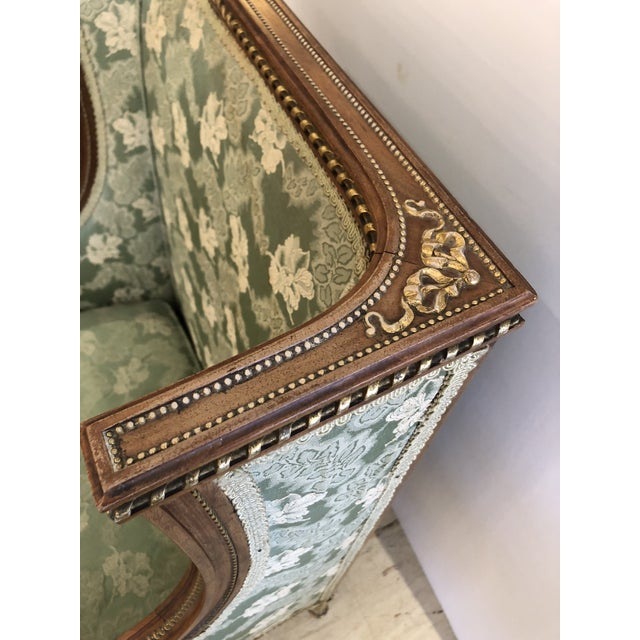 Ladies French Bergère Armchair For Sale In Philadelphia - Image 6 of 13