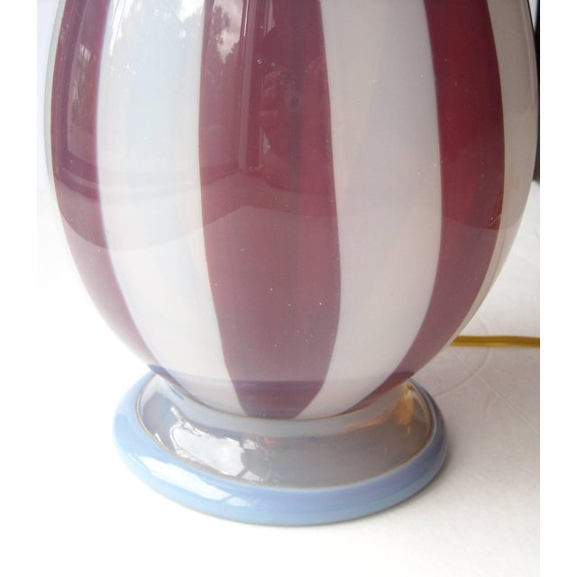 1950s Barovier & Toso Rare Tessere and Opalescent Glass Murano Lamp Base For Sale - Image 5 of 6
