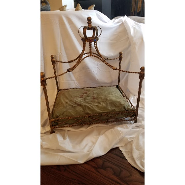 Baroque Pet Bed With Gemstone Crown For Sale - Image 9 of 9