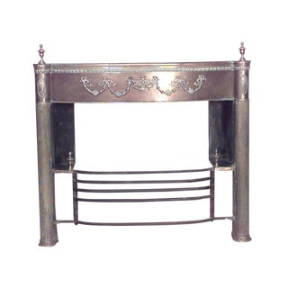 English Adam Style '19th Century' Brass Fireplace Mantel For Sale