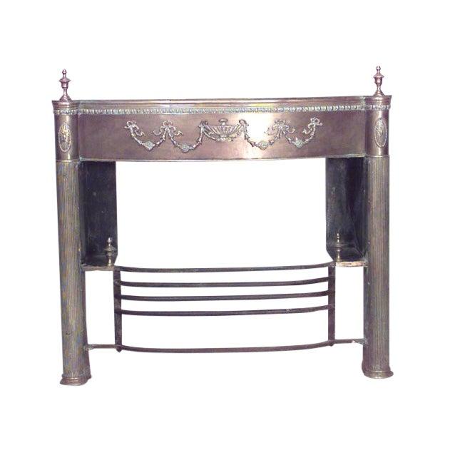 English Adam Style '19th Century' Brass Fireplace Mantel For Sale