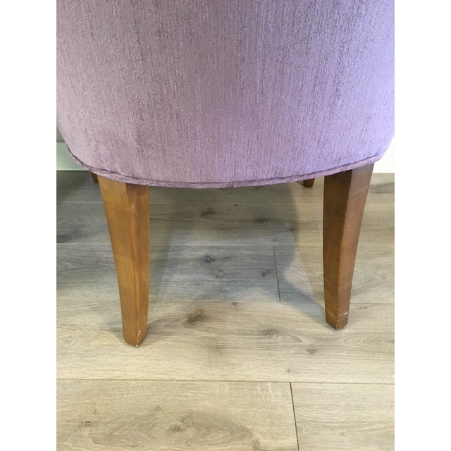 Donghia Pair Purple Donghia Chairs For Sale - Image 4 of 7