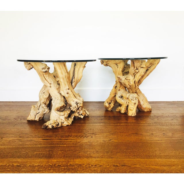 Vintage Grape Vine Side Tables - a Pair - Image 2 of 6